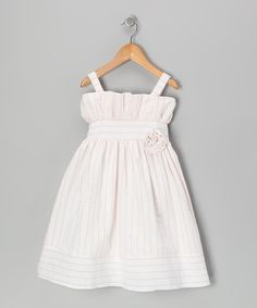 Take a look at this Pink Stripe Seersucker Dress - Toddler & Girls by 3 Angels Clothing on #zulily today!