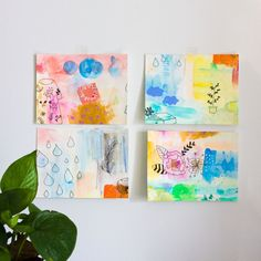 Abstract Watercolor Cards,Watercolor Print Cards,Spring Watercolor Painting,Spring Watercolor Illustration,Original Watercolor Wall Art