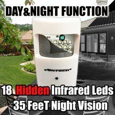 VENTECH CCTV Motion Detector type PIR Camera 1000tvl 18 hidden IR leds Night Vision Home Surveillance 3.6mm pinhole Lens Wideangle Indoor aa