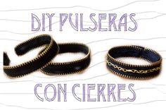 DIY Pulseras con Cierres   DIY Zipper Bracelets