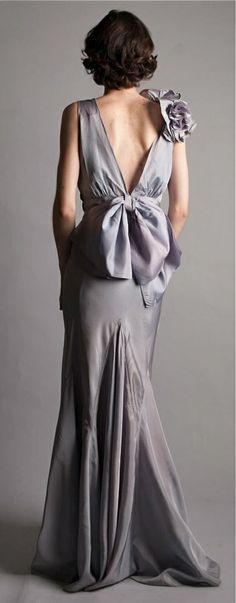 Vintage 1930s Dress - 30s Evening Gown - Lussuria Dress