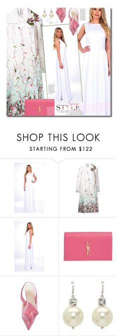 """""""Formal"""" by beebeely-look ❤ liked on Polyvore featuring Antonio Marras, Yves Saint Laurent, Simone Rocha, dresses, wedding, maxidress, DesirVale and plus size dresses"""