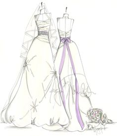 39 best bridal gown sketches images alon livne wedding dresses Sequin Bridal Gowns custom wedding gown keepsake sketch 100 00 via etsy gown photos wedding keepsakes