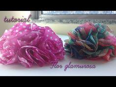 (55) flor glamurosa de tecido - YouTube