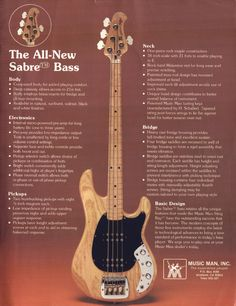 Music Man advertisement (1979) The All New Sabre Bass