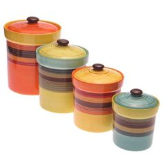 4 Piece Sedona Canister Set