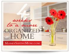 Join the 4 Weeks to a More Organized Home Challenge. Daily organizing challenges and link-ups -- begins on November 5!