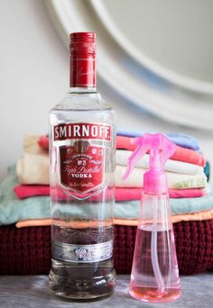 Hacks for Fixing Ruined Clothes - Laundry and Cleaning Ideas - Good Housekeeping - spray vodka on clothes to eliminate odors? Dousing the house in vodka, my kind of cleaning Stain On Clothes, Diy Clothes, Smelly Clothes, Red Wine Stains, Clothing Hacks, Clothing Organization, Closet Organization, Diy Cleaning Products, Cleaning Tips