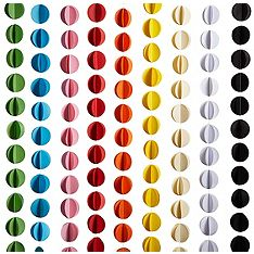 Circle Garland, for tent decoration. 11 feet long, on sale for $2.09 each.