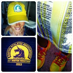@Larissa Ralph's photo: Saturday group run and Im dressed to the Boston-yellow! #runforboston #grouprun #esnw #runningskirts #bostonstrong #Bostonmarathon #newtonrunning