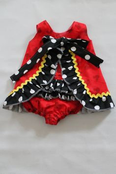 SALE Mouse Baby Dress and Ruffle Bloomers set by Turtleycute, $32.99