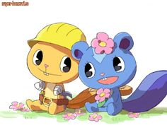 Happy Tree Friends: Handy & Petunia 《《《 petunia is an airbender