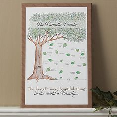 Family Tree Personalized Canvas Print