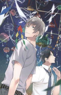 Takarai Rihito Anime Guys, Manga Anime, Takarai Rihito, Shounen Ai, Childhood Friends, Handsome Boys, Beautiful Artwork, Geek Stuff, Kawaii