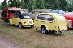 Beetle convertible with matching trailer | by Ronald_H