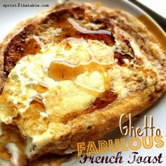 Ripped Recipes - Ghetto Fabulous French Toast - This is the laziest, most bass ackwards way possible to make french toast.  Toast the bread while beating egg whites with cinnamon and stevia.  Pour egg mixture over the top.