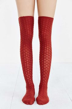 Honeycomb Over-The-Knee Sock - Urban Outfitters
