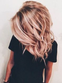 cheveux rose dore