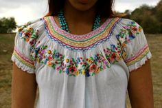 1930s Hungarian Beauty Vintage Hand Embroidered Peasant by Vdingy, $125.00