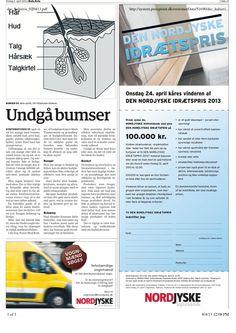 2. April 2013 - Hals Avis bringer Danish Skin Cares guide til en bumsefri konfirmation