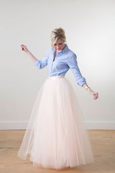 Blush tulle skirt space 46 boutique