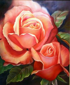 Painting by Zorica Joy #painting #roses #oilpaint #art