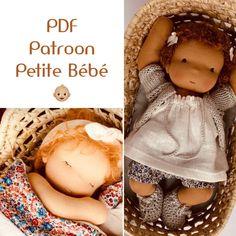 PDF patroon en tutorial Petite Bébé (Dutch) | Patterns & Kits | MonPilou Waldorf Dolls, Dutch, Doll Clothes, Pdf, Couture, Patterns, Fabric Dolls, Bebe, Baby Pets
