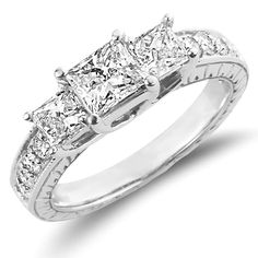 Diamond Engagement Rings Princess Cut | 3 carat engagement ring