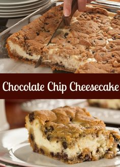 Be the star of the office potluck with this amazing chocolate chip cheesecake!