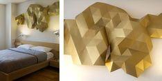 For Home, great deco piece - DIY origami wall-art #diy #origami #wallart