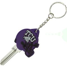 TCU Horned Frogs Football Helmet Key Blank Keychain