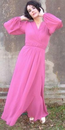 1970s silk chiffon gown  - Courtesy of bijou