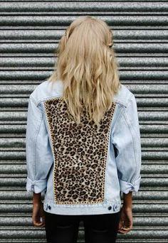 leopard chain vintage levi's jacket