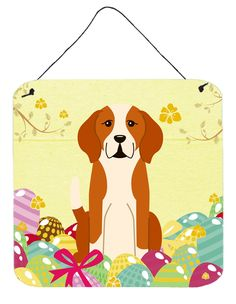 Easter Eggs English Foxhound Metal Wall Décor