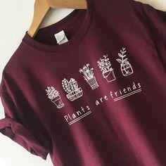 fbde5ea832 Plants are Friends Shirt Tee T-shirt High Quality SCREEN PRINT Super Soft  unisex Worldwide ship Vegan shirt Trees gardener tshirt Pflanzen sind  Freunde ...