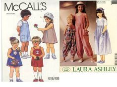 Two Girl's Patterns Dresses, Rompers Size 4 - Cut Mccalls 9626 and P260 - Children