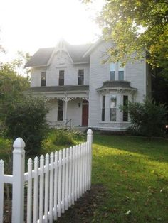 Old Farm House & White Picket Fence