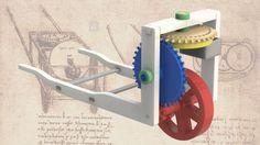 Leonardo Da Vinci's Odometer Mechanism - SketchUp,SOLIDWORKS,Parasolid,Autodesk 3ds Max,OBJ,STL,STEP / IGES - 3D CAD model - GrabCAD