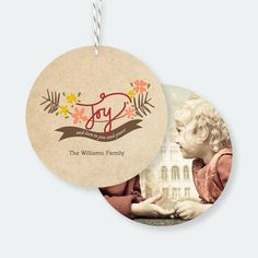 Joy and Love Christmas Ornaments from Paper Culture