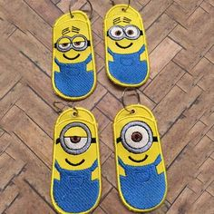 Minion Chapstick Cover (Set of 4)Type: In-The-HoopSize: 4x4Formats: ART, DST, EXP, HUS, JEF, PES, VIP, VP3, XXXAll formats contained in a single ZIP file.