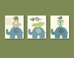 elephant baby room ideas | Elephant Theme Baby Nursery Decor Photo