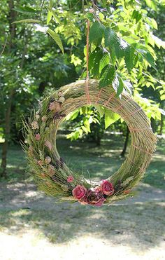 Summer natural wreath, Country style home decor, Rustic front door wreath Dried Flower Bouquet, Dried Flowers, Country Style Homes, Rustic Style, Wreaths For Front Door, Door Wreaths, Easter Wreaths, Christmas Wreaths, Moss Wreath