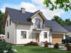 Projekt domu ARD Modrzew 2 paliwo stałe CE - DOM - gotowy koszt budowy This Old House, Good House, Best House Plans, Home Fashion, Interior And Exterior, Shed, New Homes, Outdoor Structures, Cabin