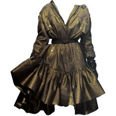 Lanvin-editedbyelfemme ❤ liked on Polyvore featuring dresses, gowns, vestidos, short dress, short dresses, mini dress, lanvin dresses, brown dress and lanvin