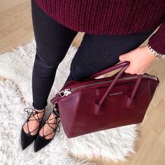 givenchy maroon' satchel- Givenchy handbag trends http://www.justtrendygirls.com/givenchy-handbag-trends/