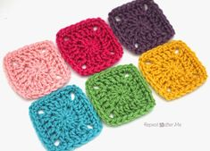 Repeat Crafter Me: Pixel Crochet Squares. This is a really great idea- I'll have to try it sometime.