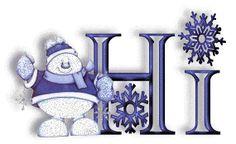.Snowman with Hi