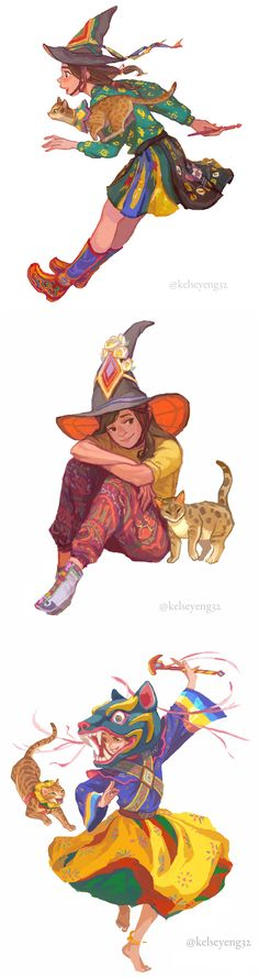 Witchy from Bhutan, a series about a witch and her cat familiar inspired by Bhutanese culture and traditions. http://www.instagram.com/kelseyeng32/