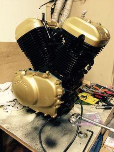 Vlx600 engine (2) Honda Steed, Honda Shadow, Bike Ideas, Bike Parts, Bobbers, Scooters, Chopper, Engine, Board