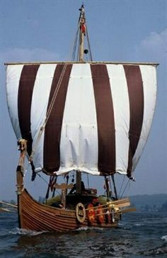 Viking ship at sail